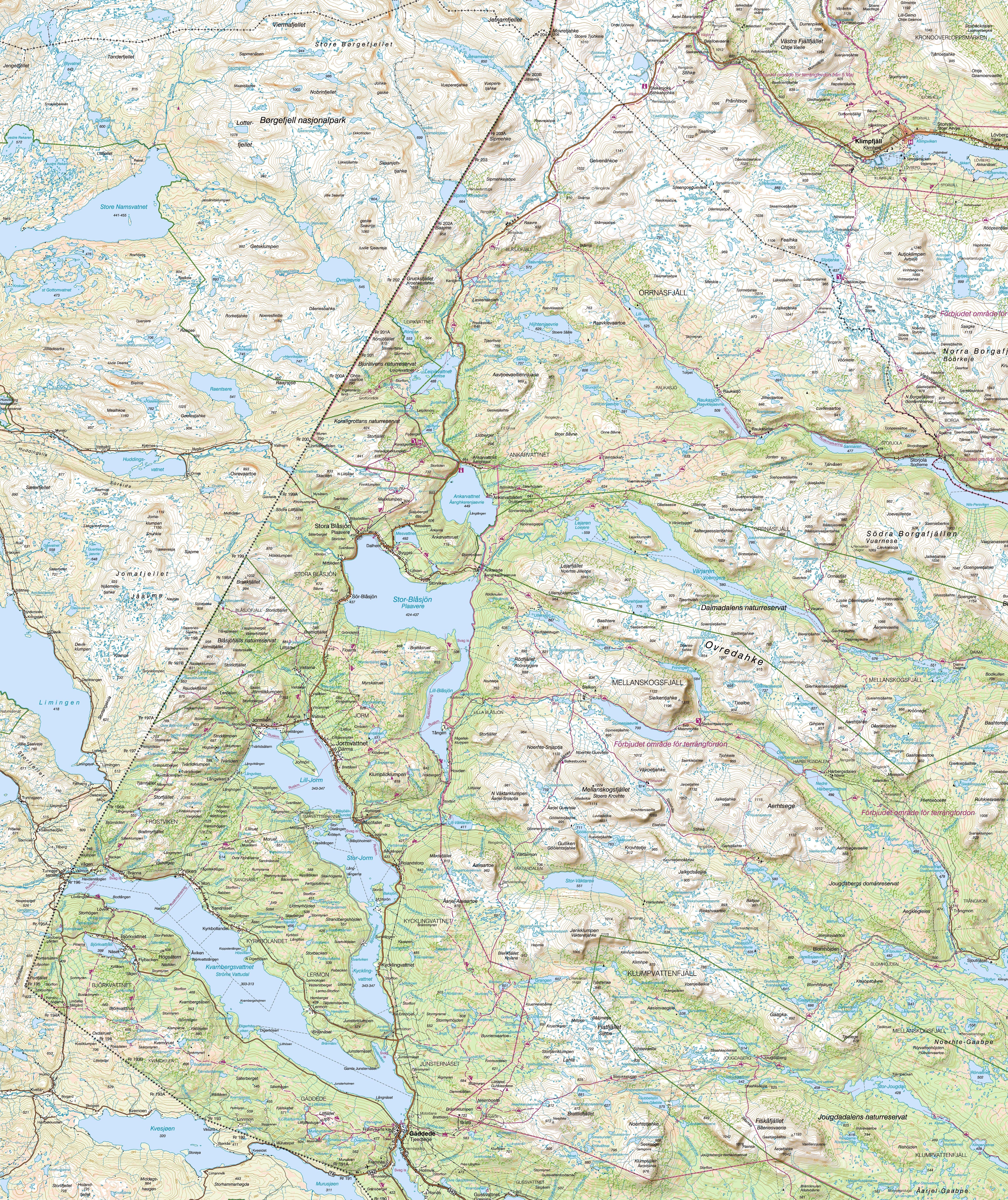 stekenjokk karta Fjällkartan stekenjokk karta